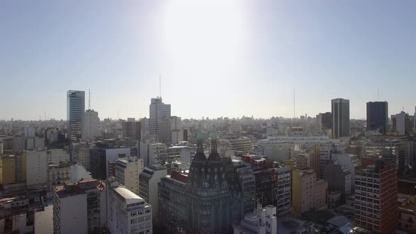 Cityscape, Buenos Aires, Argentina Royalty-free stock video