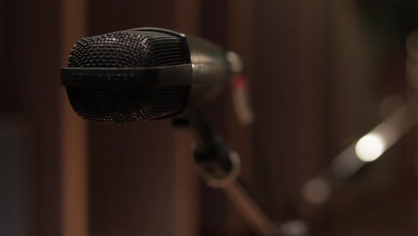 Microphone, close-up Royalty-free stock video