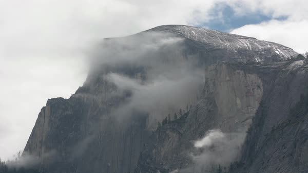 Timelapse view of Half Dome, Yosemite National Park, California, USA Royalty-free stock video
