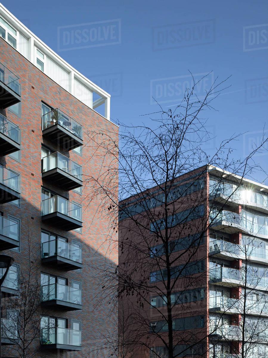 Apartment buildings in London - Stock Photo - Dissolve