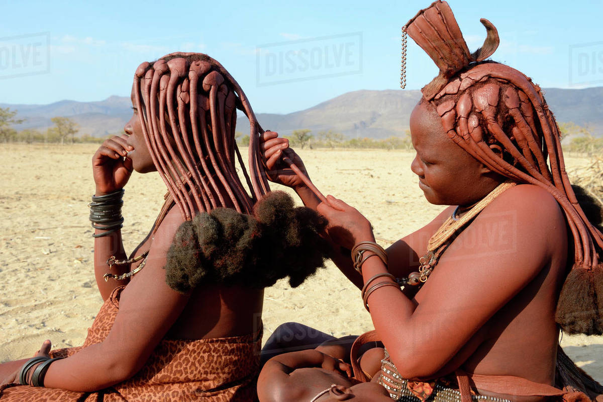 Himba Tribe In Namibia Stock Photo - Download Image Now