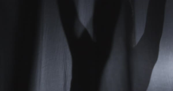 Slow motion shot of a woman dancing behind a curtain Royalty-free stock video