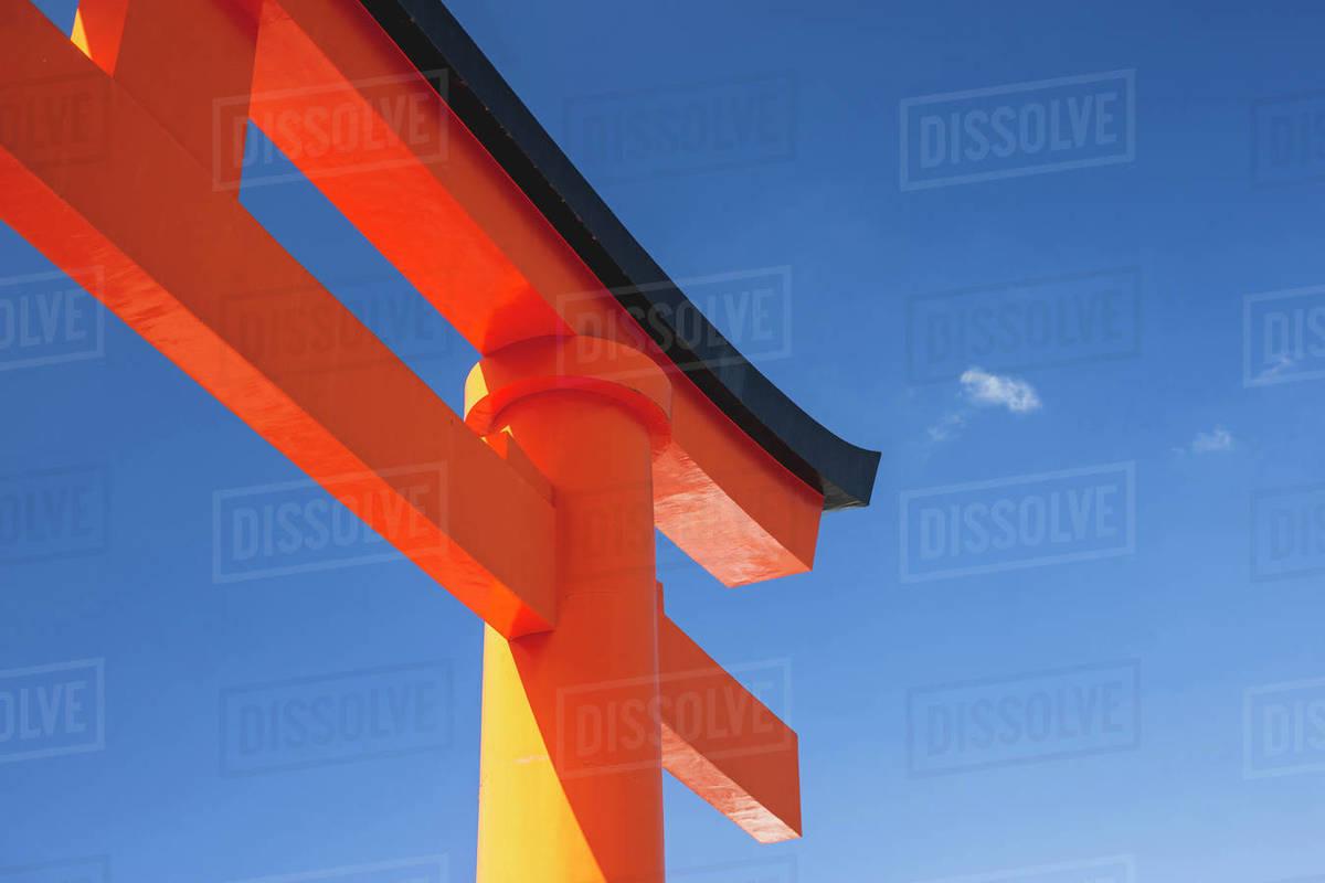 Large Torii Gate at Fushimi Inari Shrine in Kyoto, Japan Royalty-free stock photo