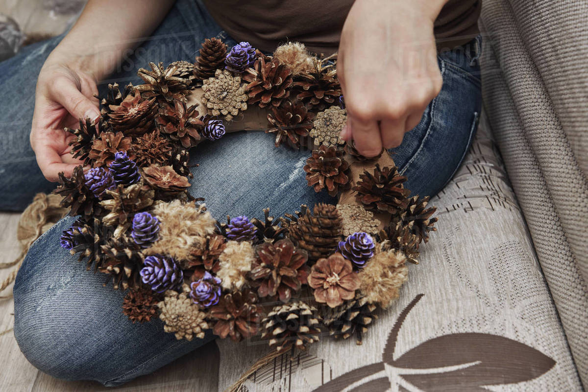 Christmas, Advent Decorative Wreath Candle Decoration Royalty-free stock photo
