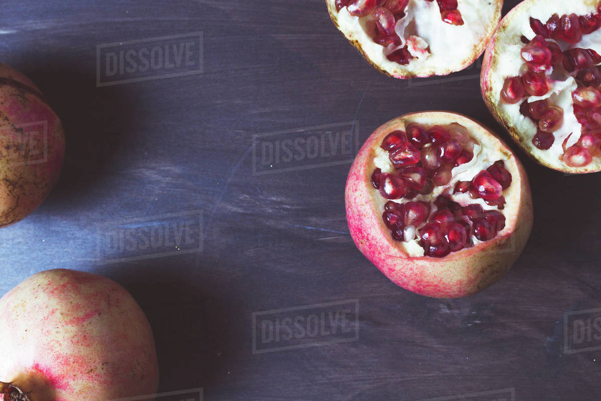 Fruit pomegranates for advertising and gastronomic photography Royalty-free stock photo