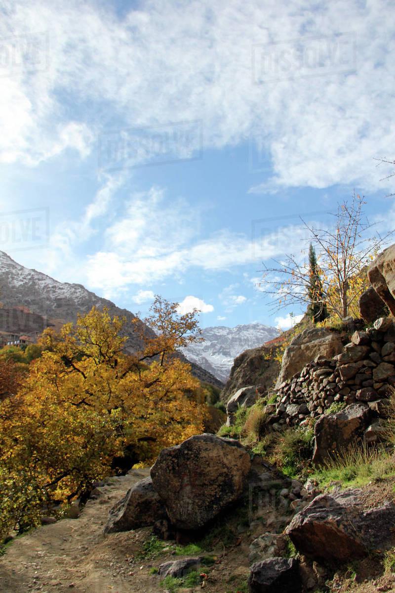 Toubkal Mountain Peaks Royalty-free stock photo