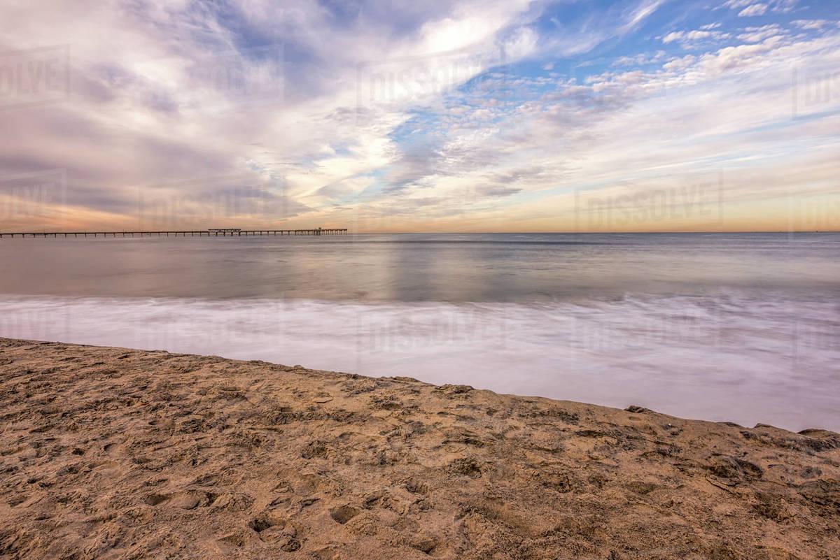 Ocean Beach on a December morning. Royalty-free stock photo