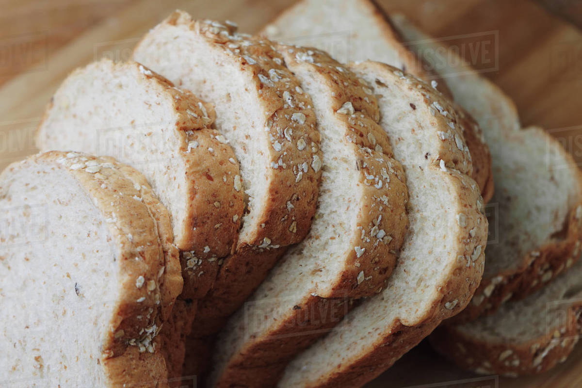 Sliced whole wheat bread Royalty-free stock photo