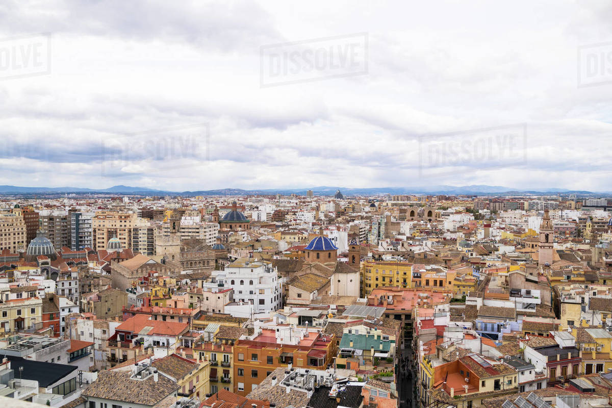 View of the city of valencia from the tower of the miguelete Royalty-free stock photo