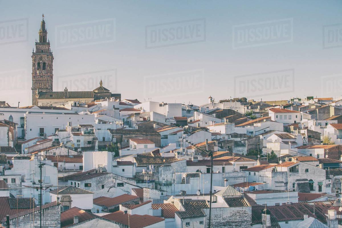 Jerez de los Caballeros townscape, Extremadura, Spain Royalty-free stock photo