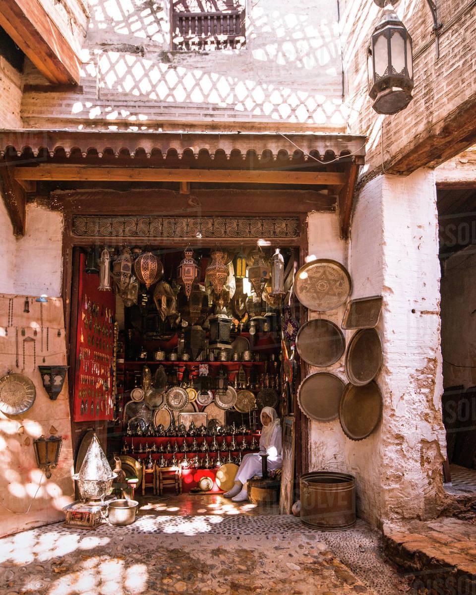 Fez Seller Royalty-free stock photo