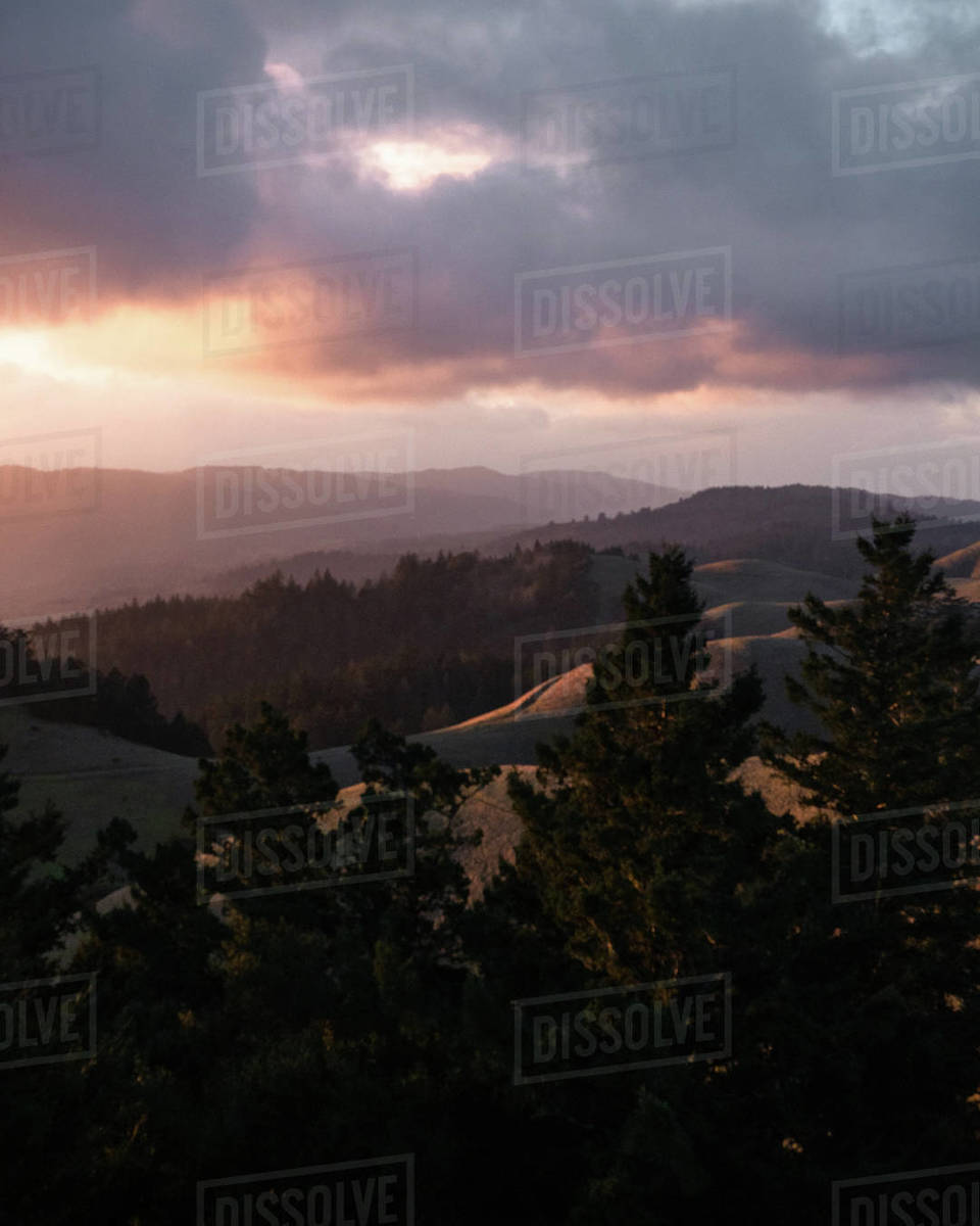 Rolling California Hills Royalty-free stock photo
