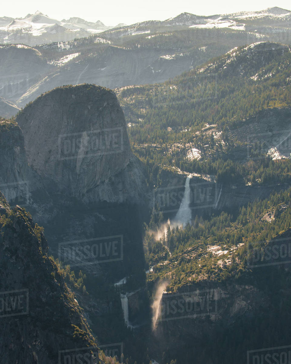 Yosemite Double Falls Royalty-free stock photo