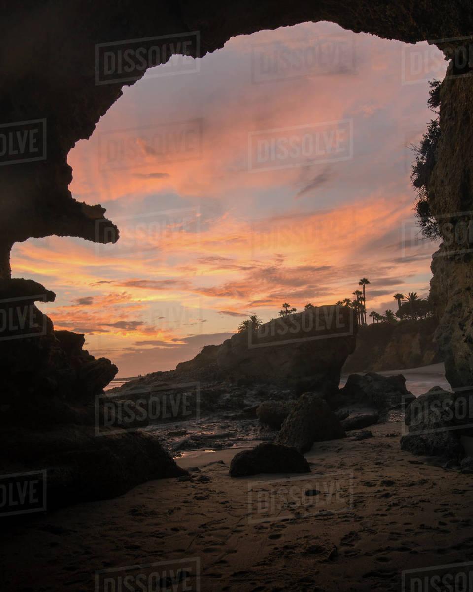 Laguna Beach Cave Royalty-free stock photo