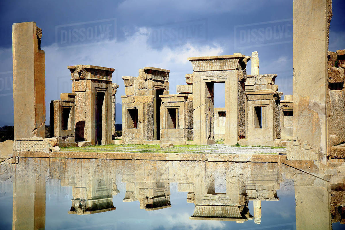 The site of Persepolis, Fars Province, Marvdasht, Iran Royalty-free stock photo