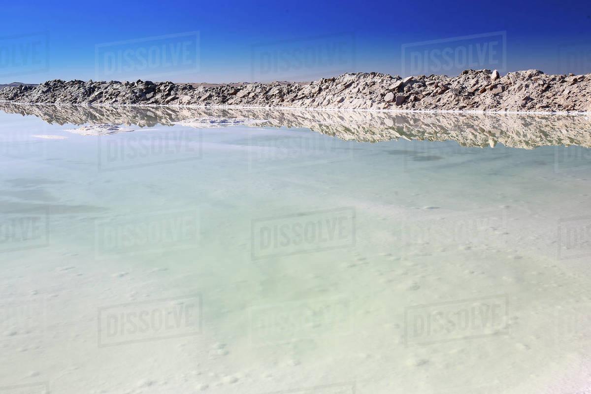 View of Namak Lake, salt lake Royalty-free stock photo