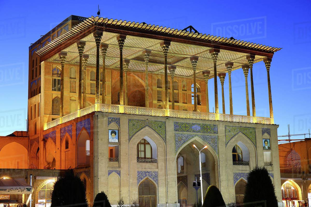 Ali Qapu Palace, located on Nagsh e Jahan Square, Isfahan, Iran Royalty-free stock photo