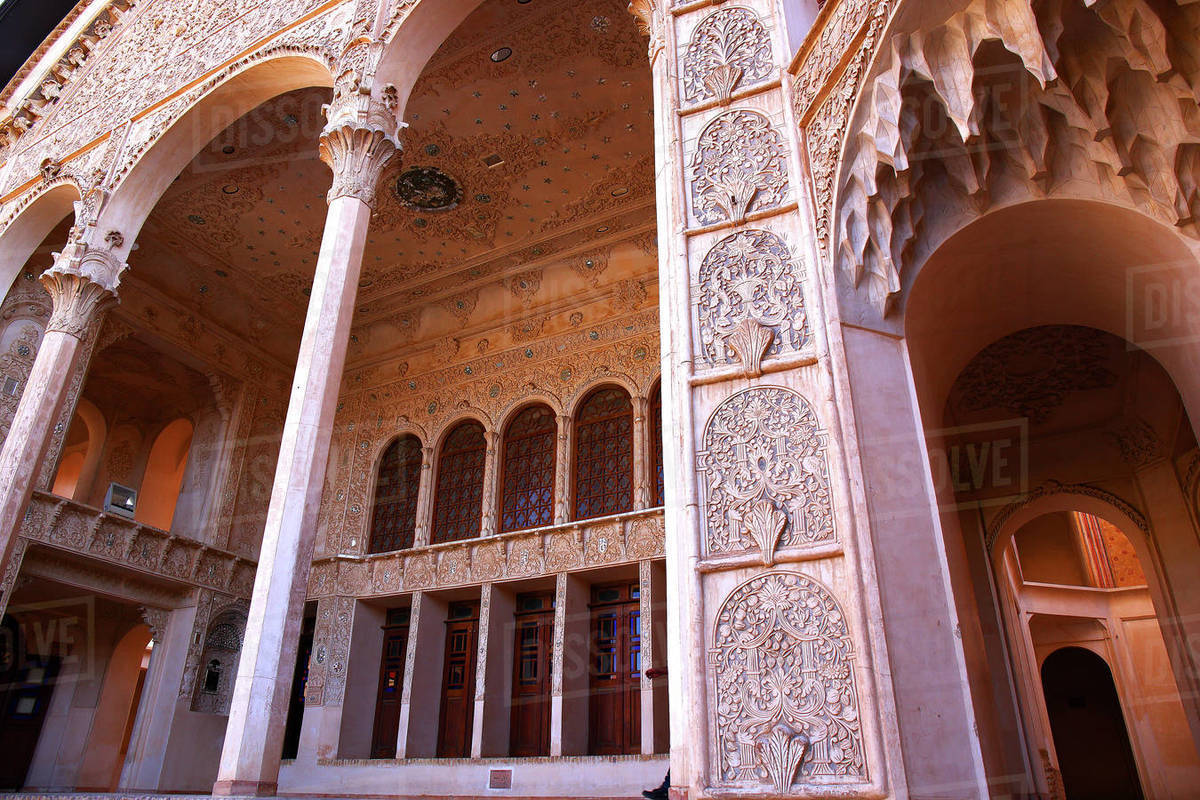 La Casa Histórica, Khāneh Tabātabāei-ye Tabātabāeihā, Kashan, Irán Royalty-free stock photo