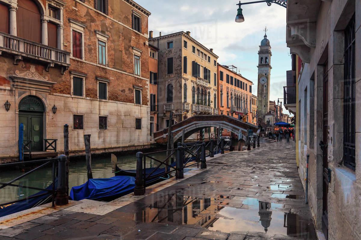 River street in Venice Royalty-free stock photo