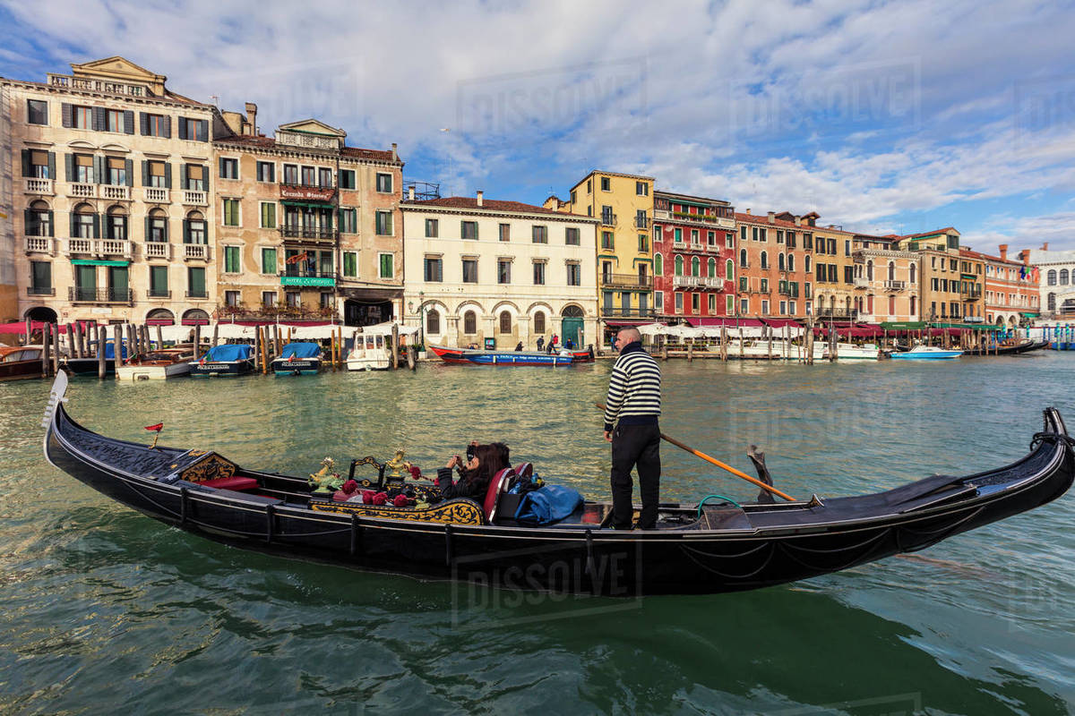 Gondolier at work in Venice Royalty-free stock photo