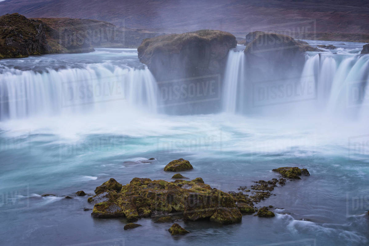 Godafoss waterfall in long exp Royalty-free stock photo