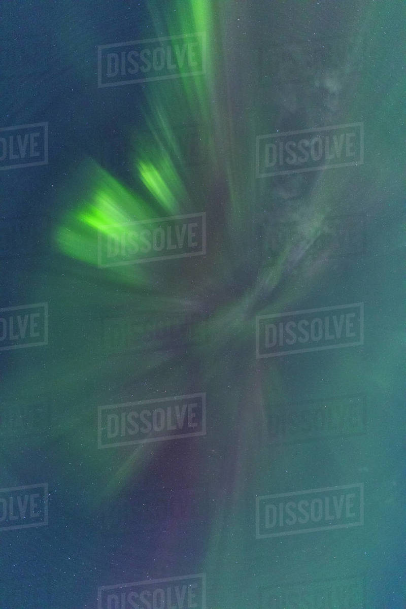 Northern Lights movement and colors Royalty-free stock photo