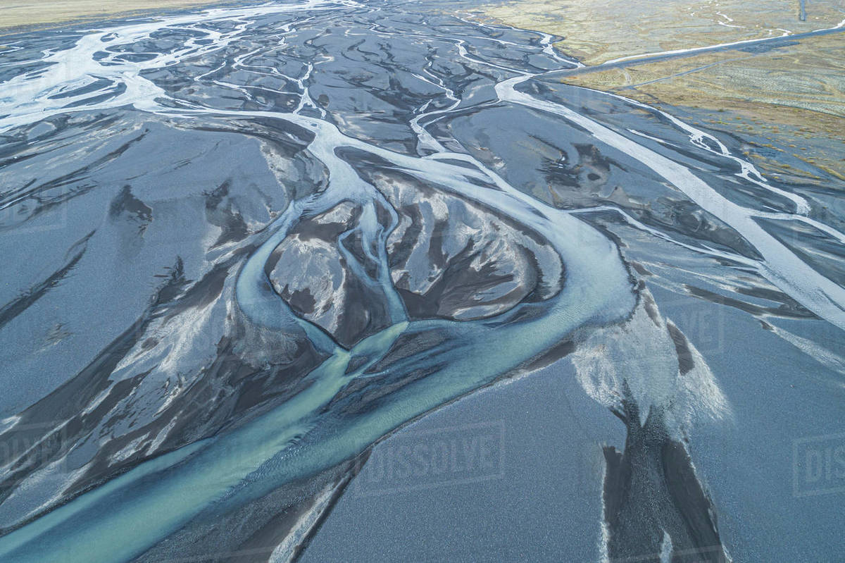 Aerial Iceland River Royalty-free stock photo