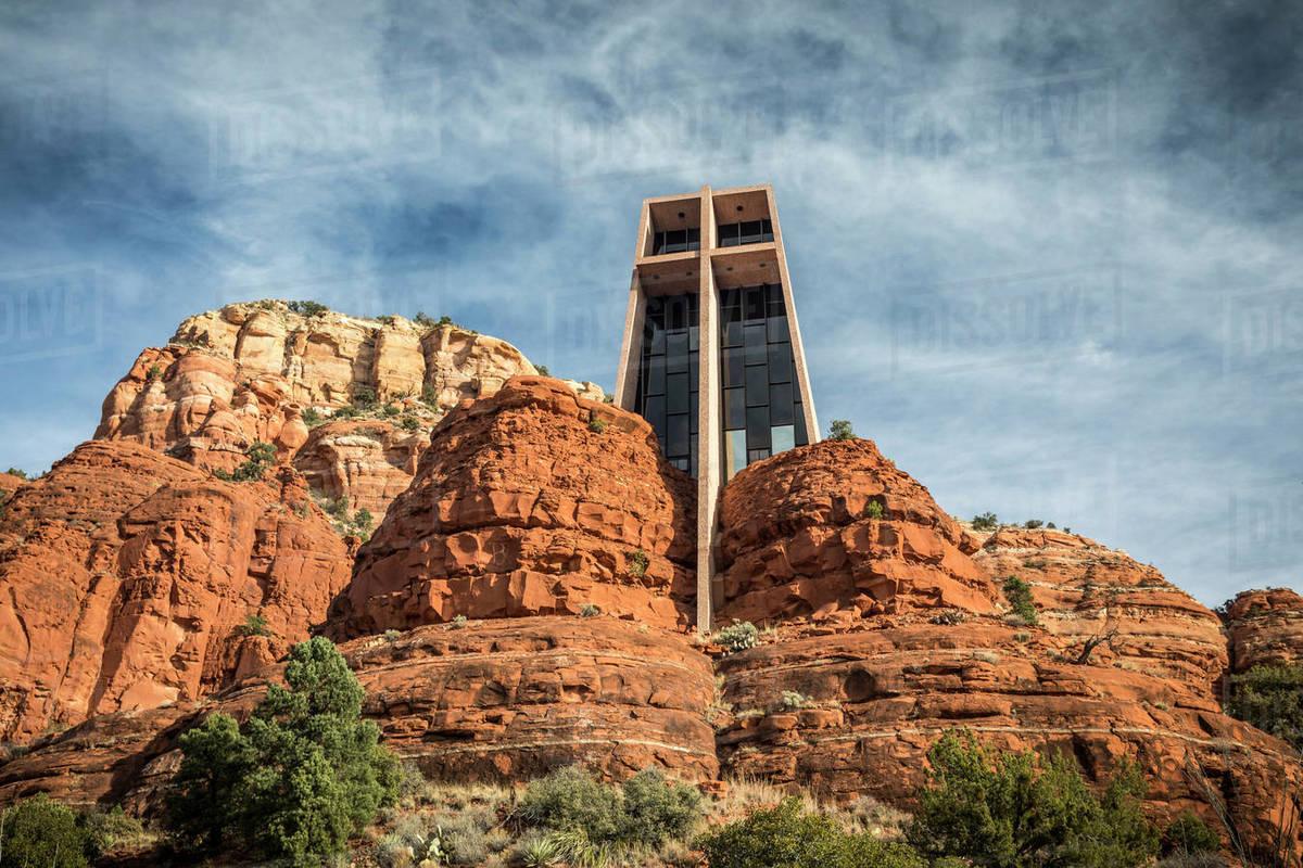Chapel of the Holy Cross, Sedona, AZ. Royalty-free stock photo