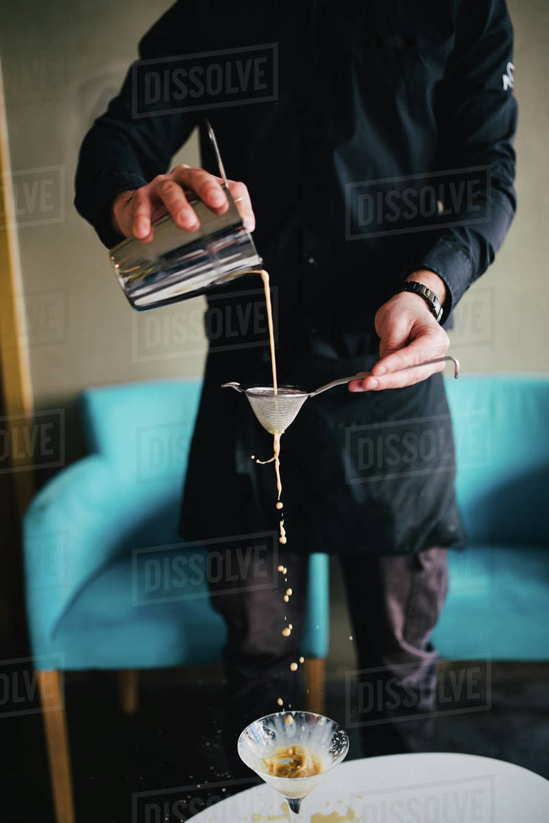 Process of preparation coffee drink in the restaurant Royalty-free stock photo