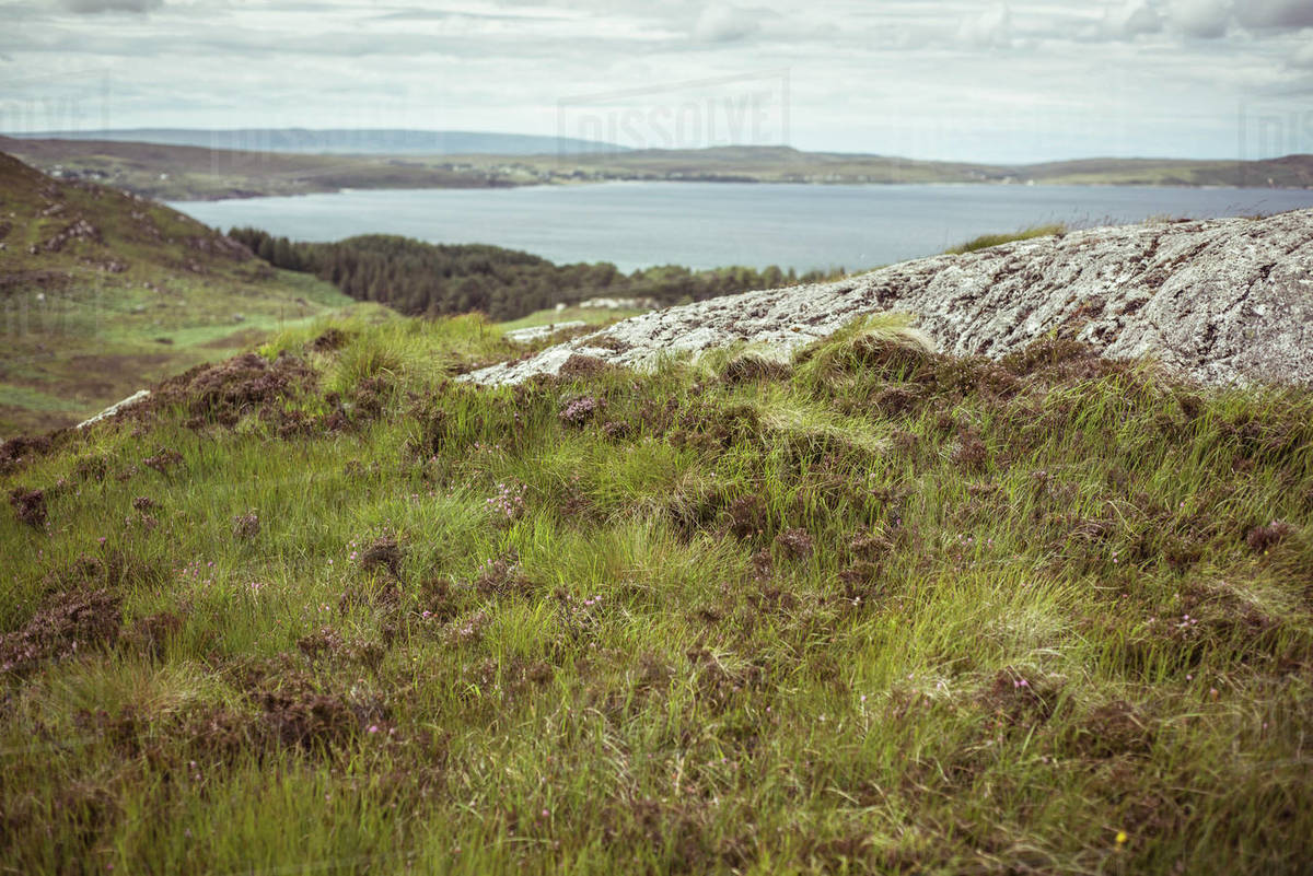 Scottish wilderness rugged landscape on highlands coast Royalty-free stock photo
