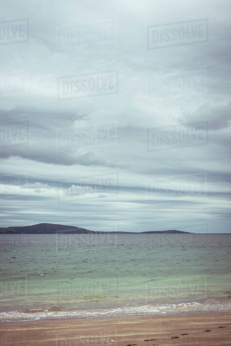 Big moody sky over ocean on west coast scotland Royalty-free stock photo
