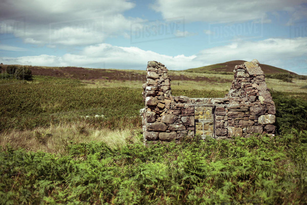 Old ruins on remote island in north west scotland Royalty-free stock photo