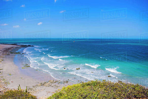 High angle view of blue sea against sky Royalty-free stock photo