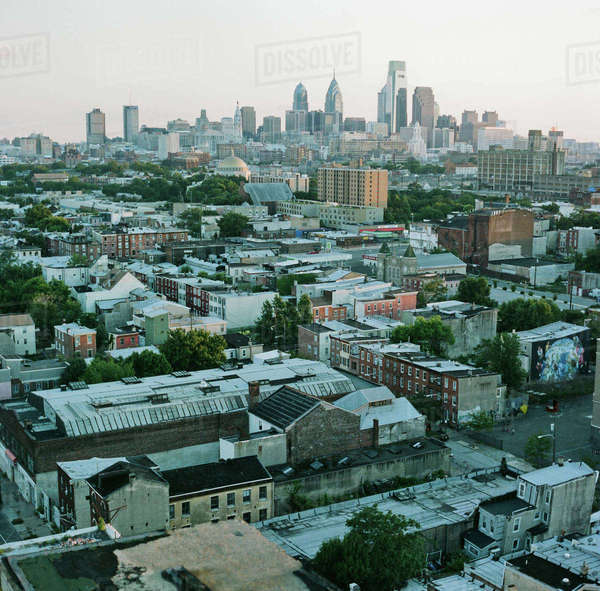 Cityscape against clear sky Royalty-free stock photo