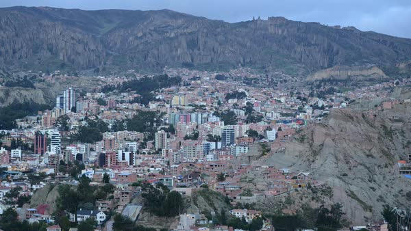 Day-to-night timelapse of La Paz Royalty-free stock video