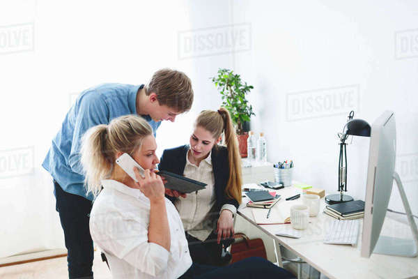 Finland, People working in office Royalty-free stock photo