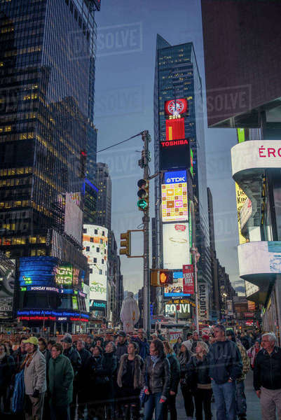USA, New York, Manhattan, Times Square, People on town square Royalty-free stock photo