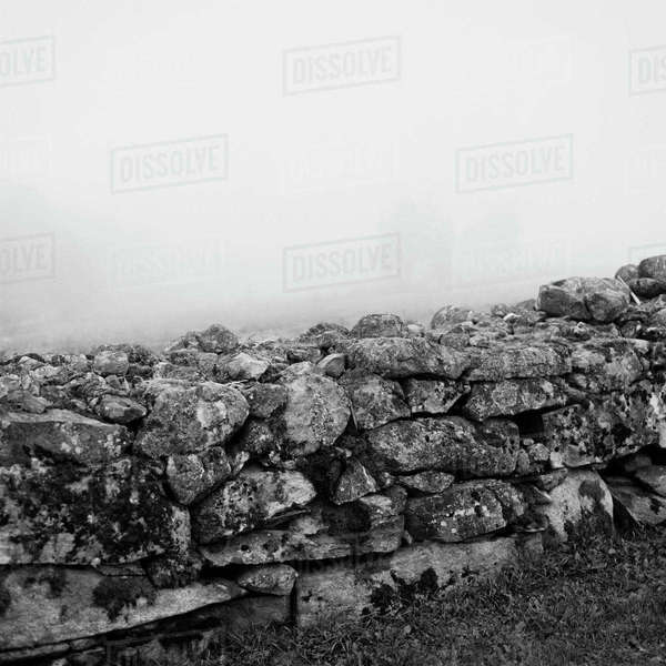 Sweden, Skane, View of stonewall Royalty-free stock photo