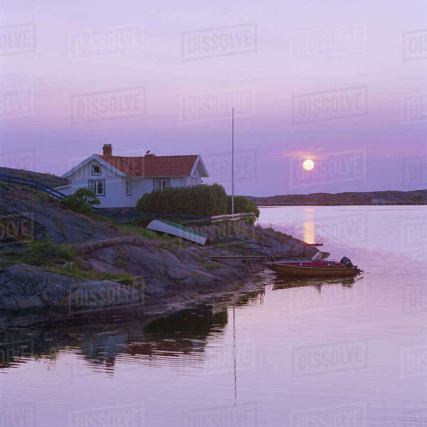 Sweden, Bohuslan, Kungshamn, West Coast, Summer evening Royalty-free stock photo