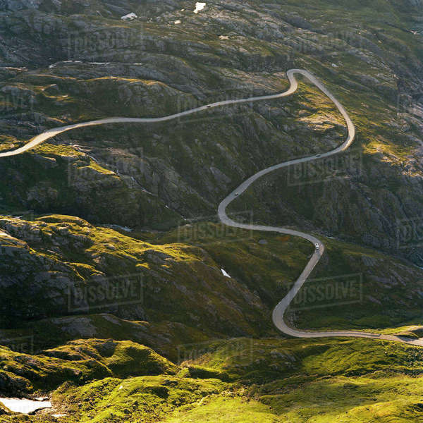 Norway, Geiranger, Dalsnibba, Winding road in summer Royalty-free stock photo