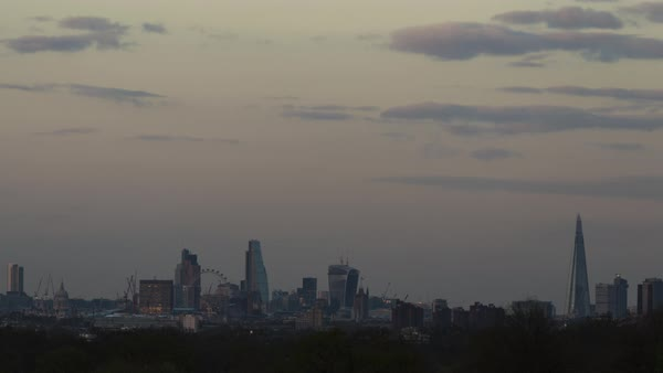 Timelapse of the London city skyline Royalty-free stock video