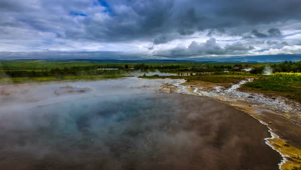 Timelapse. Geysir Strokkur - the second largest and most active geyser in Iceland Haukadalur Valley Royalty-free stock video