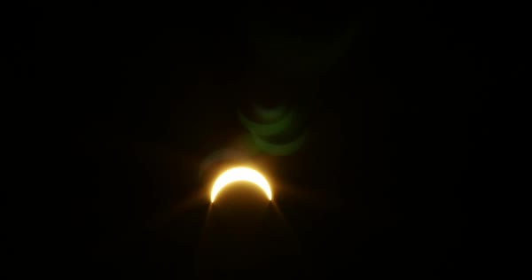Timelapse of partial solar eclipse Royalty-free stock video