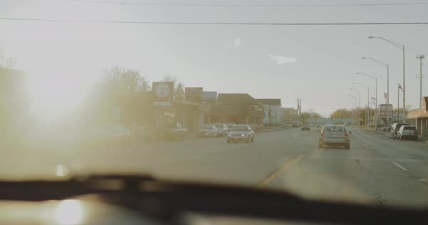 Point-of-view shot of a road from a moving car Royalty-free stock video