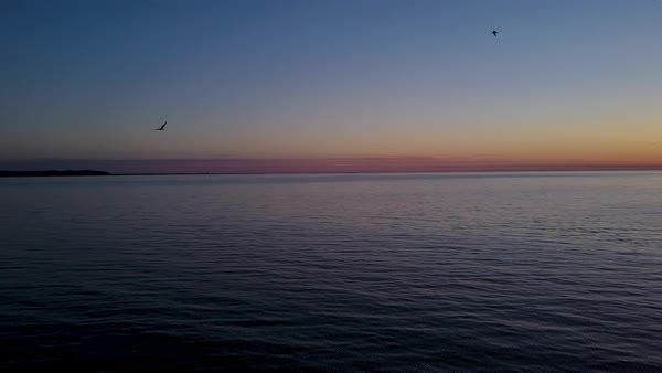 Tranquil sunset over seascape Royalty-free stock video