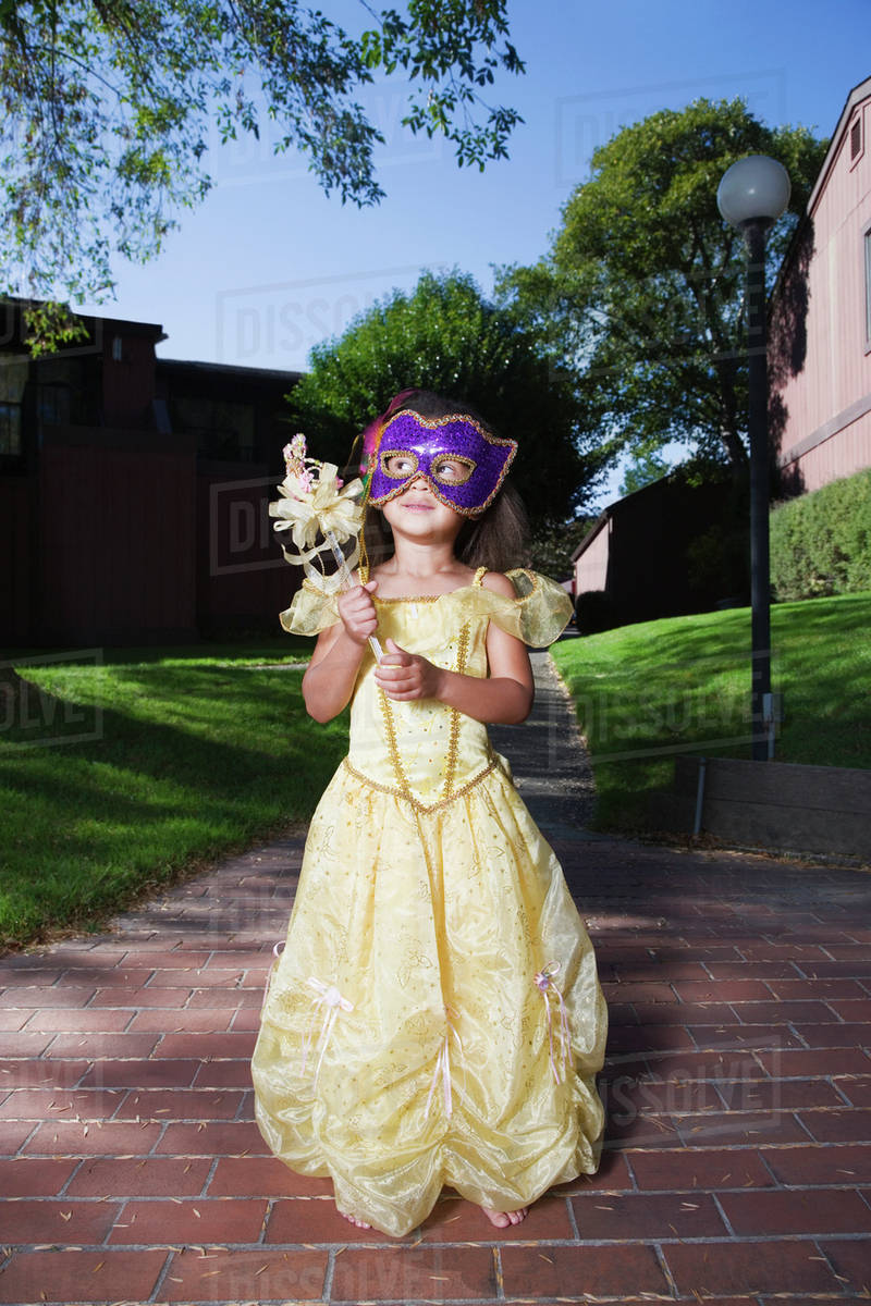 African girl in fairy princess costume Royalty-free stock photo