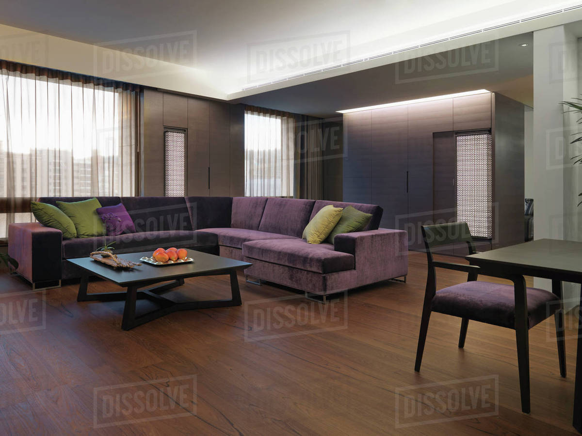 Groovy Purple Sectional Sofa In Modern Living Room D145 202 831 Cjindustries Chair Design For Home Cjindustriesco