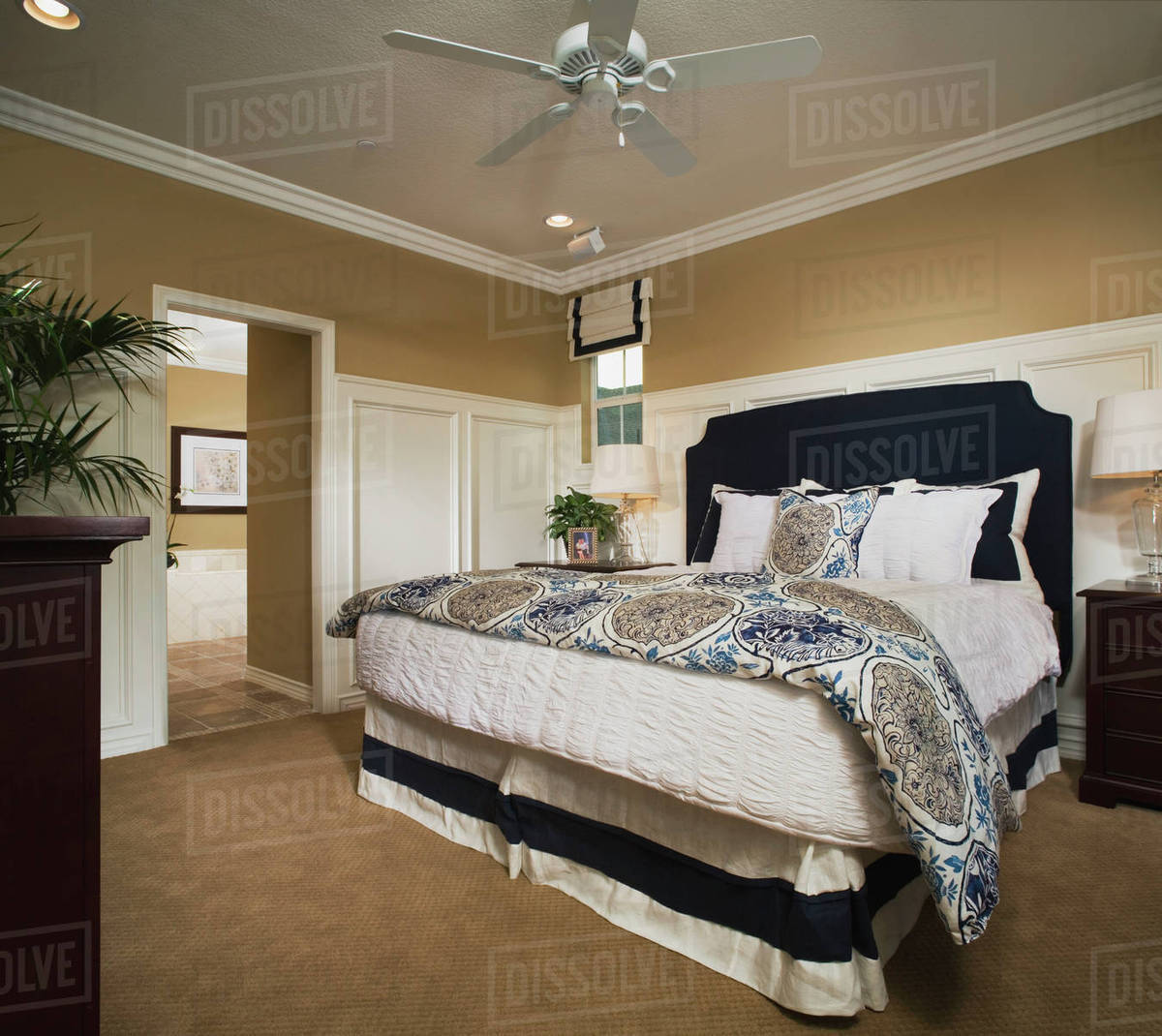 Master Bedroom With Wainscoting And Crown Molding D145 203 415