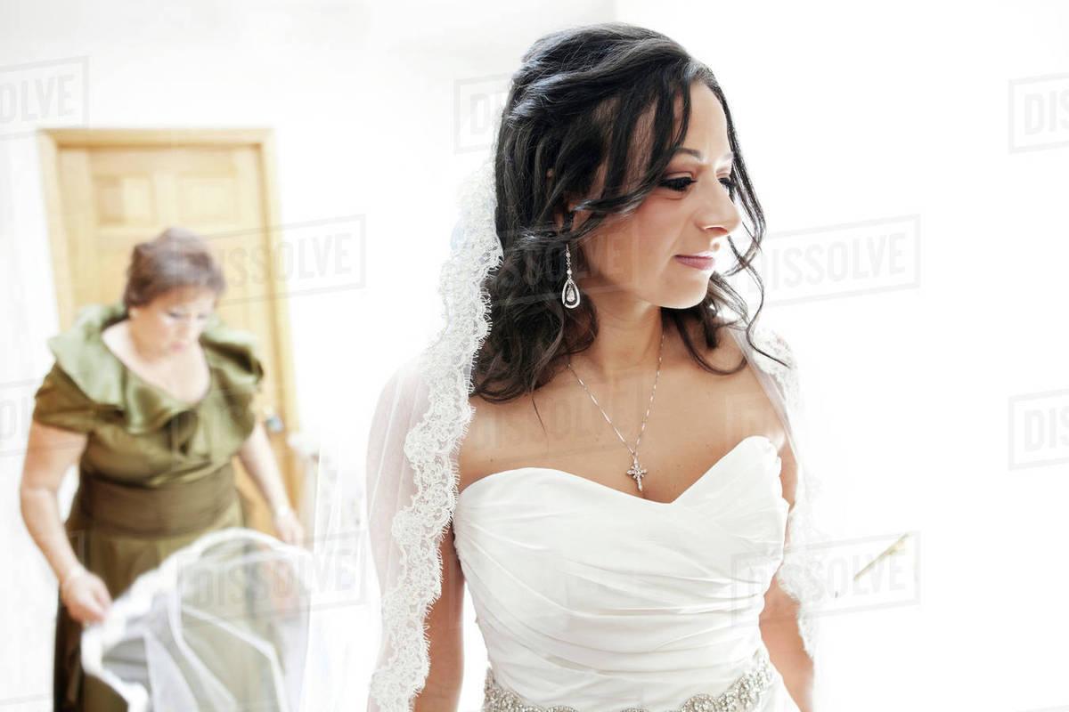 Egyptian Bride In Wedding Dress Stock Photo Dissolve