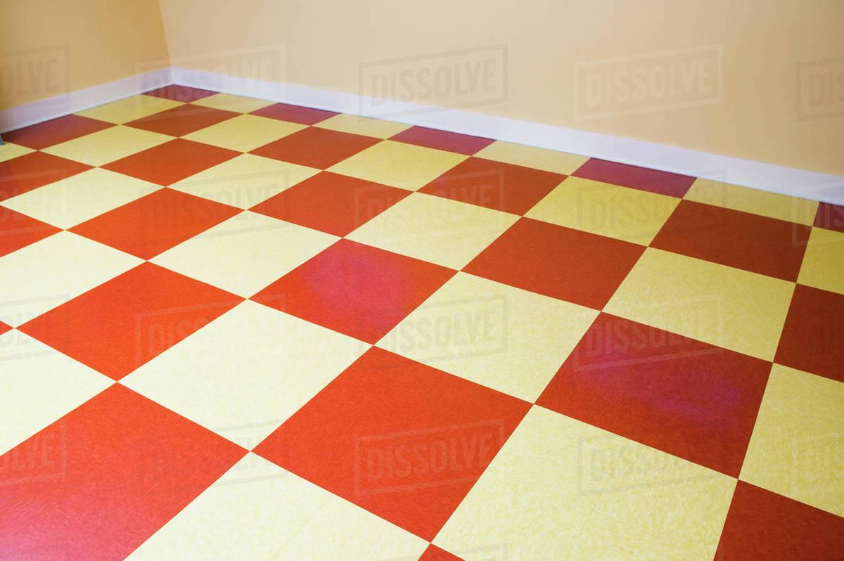 White Checkered Floor Stock Photo
